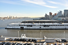 Looking up the Hudson from the Manhattan Cruise Terminal
