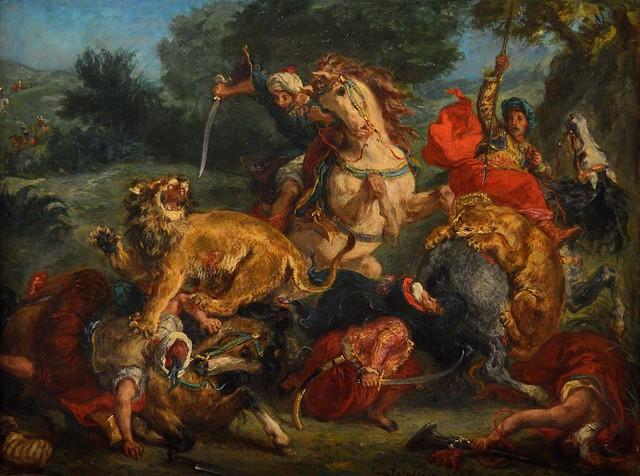 Delacroix / La Chasse aux Lions / 1855 - 4/8