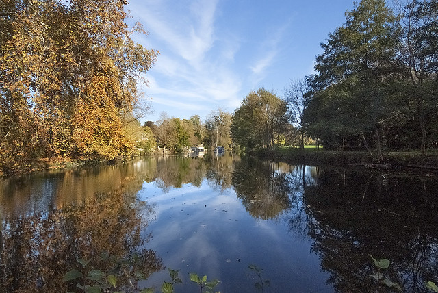 Reflections of the Charente in autumn-1