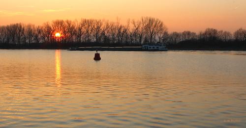 jhphotos canon canon600d sunset evening orange water river meuse maas landschap landscape landschaft landscapelovers sun zon zonsondergang oranje licht light lucht sky rivier limburg netherlands nederland niederlande paysbas