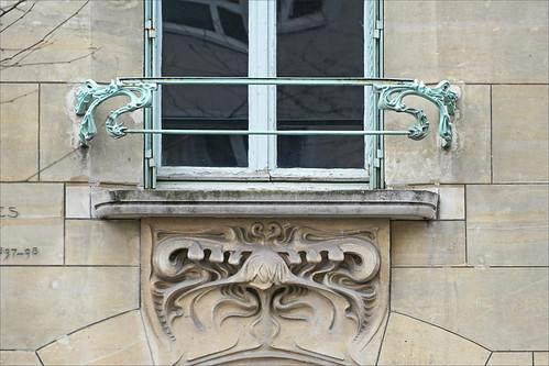Fenêtre du Castel Béranger d'Hector Guimard à Paris