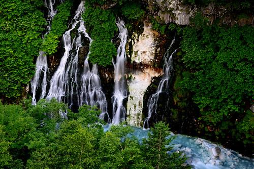 hokkaido summer 清池 白金溫泉 しらひげの滝 shirahige waterfall 白鬚瀑布