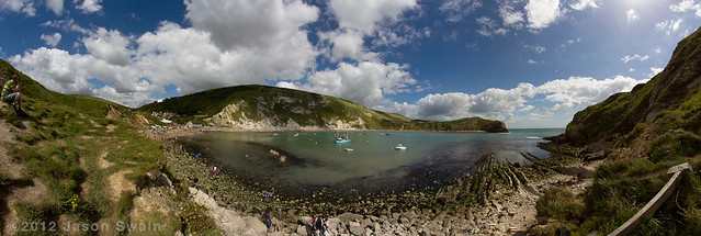 Lulworth Cove Fisheye Panorama