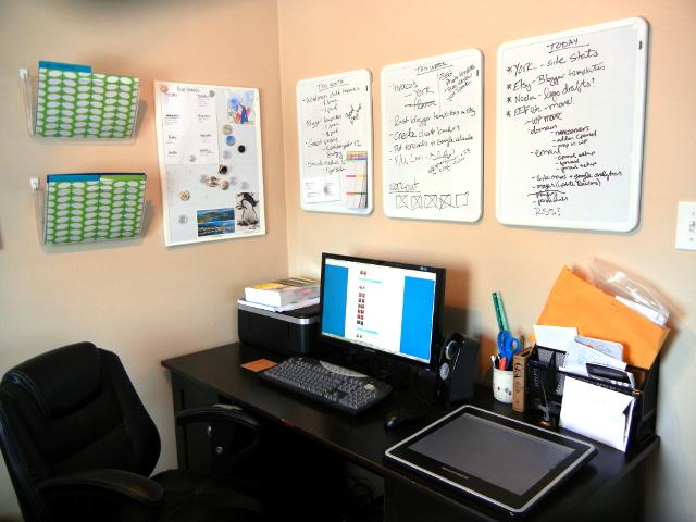 Whiteboards in my office