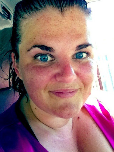 Today's Workout Face (and soaking wet hair) | by Palmer House Photography
