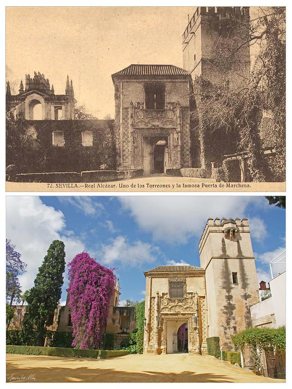 Dos vistas de la Puerta de Marchena