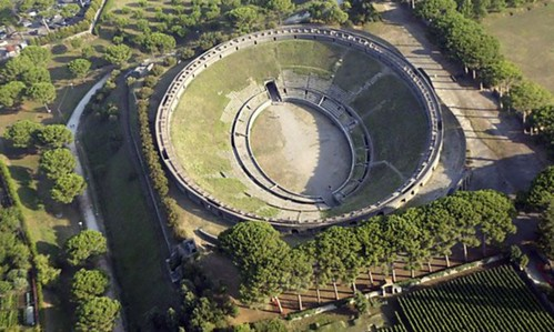 Pompeii - amphitheatre aerial | by The Classical World