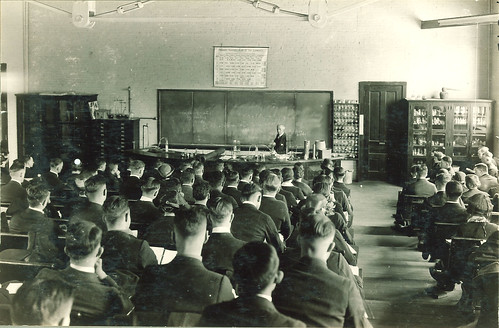 Students in a chemistry lecture, The University of Iowa, 1930s | by The University of Iowa Libraries