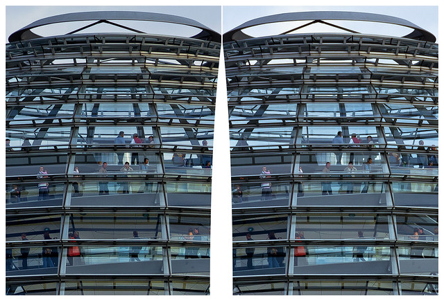 Reichstag dome 3D ::: HDR Cross-Eye Stereoscopy