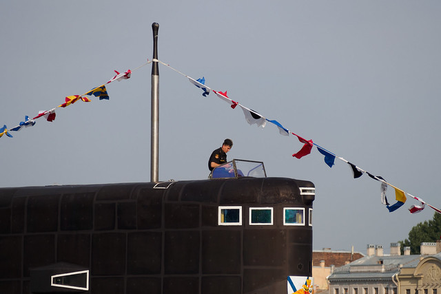 Officer on top of the Kilo class