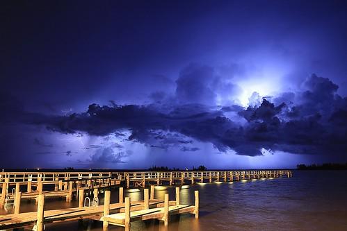 kmprestonphotography cloudy clouds extremeweather florida indianriver indianriverdrive lightning landscape lightningstorm longexposure night nightsky nightscape yachtclubpierstarstaxmg7380mg7384gapfilling