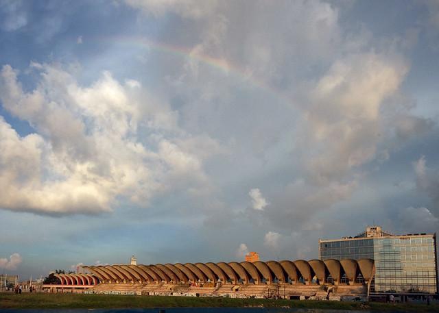 Arcobaleno sullo Stadio