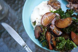 Kale Salad w/ Plum & Ricotta | by epiøne