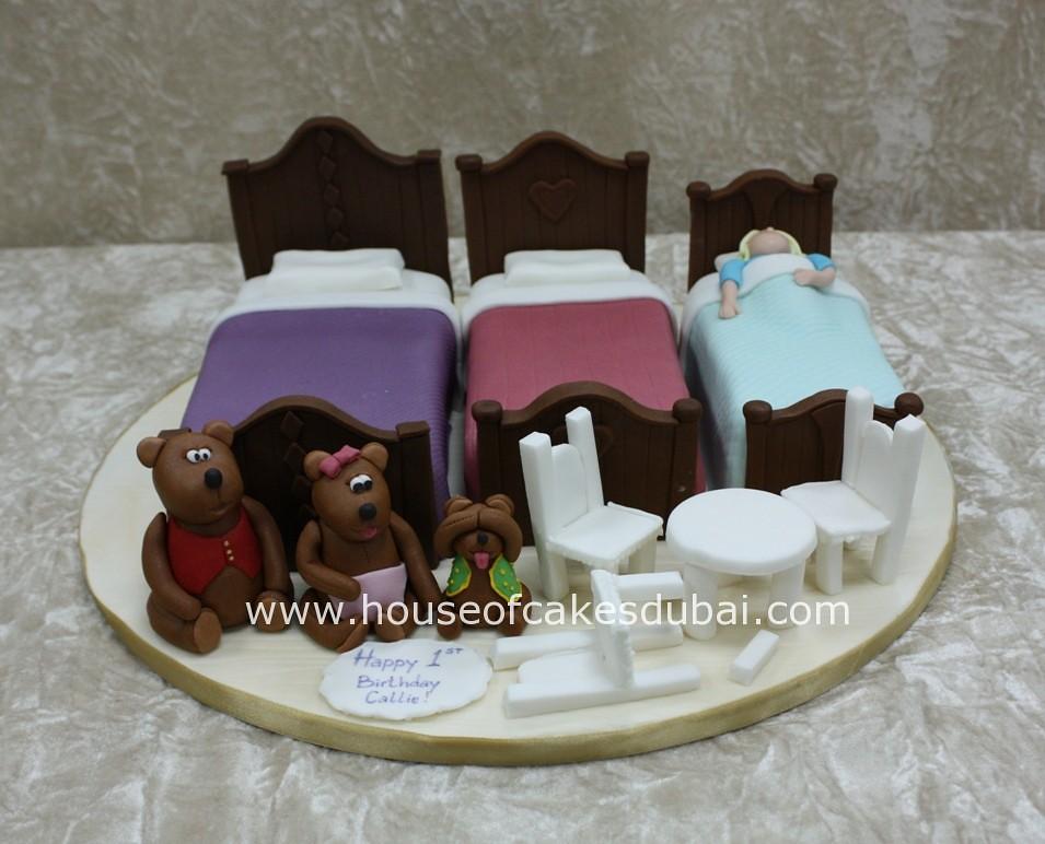 Phenomenal Goldilocks And The Three Bears Cake Irena Flickr Funny Birthday Cards Online Alyptdamsfinfo