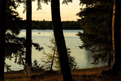 sunset fishing silverlake easternontario lanarkcounty