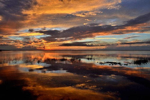 sunset sky sun lake water clouds thegalaxy