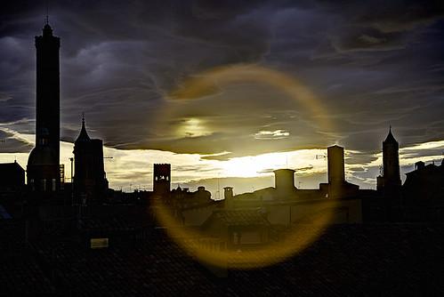 city sunset tramonto outdoor bologna città allaperto