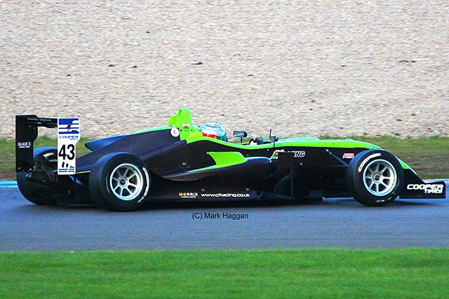 Hywel Lloyd during Formula Three Racing at Donington Park, September 2012