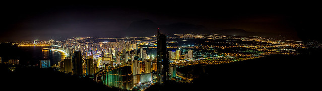 Benidorm at night - panorama