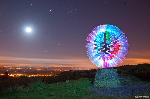 longexposure moon lightpainting colourful northwales giggitygiggity nikond90 garethbrooks zigzagorb zigzagorbthingamajigy