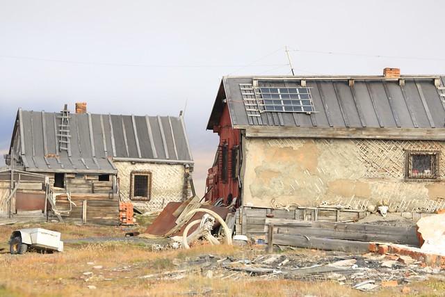 Timber Dwellings Wrangel Island UNESCO World Heritage Site Chukchi Sea Russia Far East