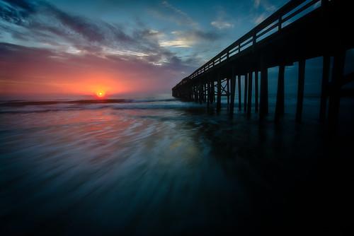 travel sun beach sunrise canon island dawn pier sand long exposure day waves florida cloudy jeremy fl amelia fla 1000 fernandina duguid pwlandscape jeremyduguid