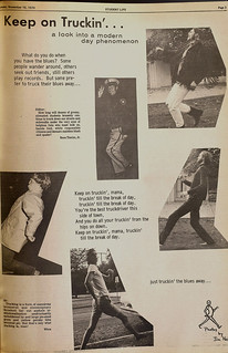 """Page on """"trucking"""" from a 1970 issue of The Student Life"""