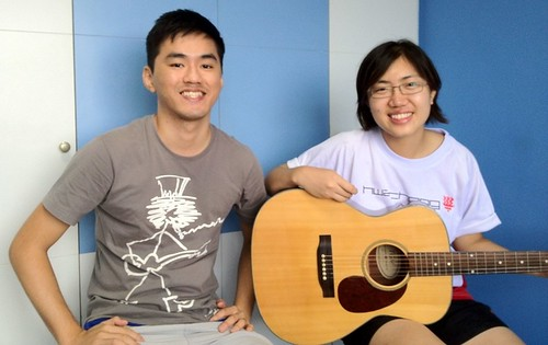 1 to 1 guitar lessons Singapore Mei Hui