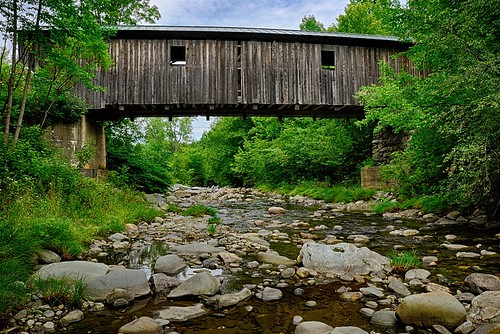 wood bridge cambridge greenleaves green mill creek river outdoors rocks stream vermont unitedstates bluesky hike trail covered coveredbridge vt woodbridge gristmill greenmountains grist whiteclouds oldbridge greenfoliage