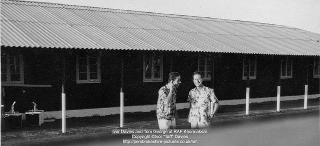 Ivor Davies and Tom George at RAF Khormaksar
