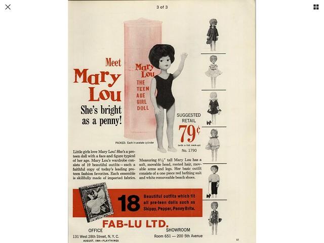 Fab Lu Ltd Vintage Doll Ads  That I own