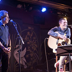 Mon, 18/07/2016 - 10:22pm - Brian Fallon (Gaslight Anthem) performs solo songs for an audience of WFUV members at The McKittrick Hotel (home of Sleep No More), 7/18/16. Hosted by Dennis Elsas. Photo by Laura Fedele
