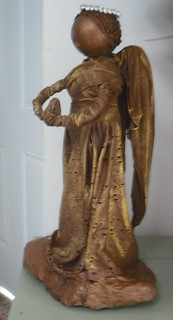 Angel. Paverpol sculpture 16 in high 2012