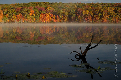 autumn mist reflection canon michael michigan michiganparks cannonsburg westmichigan kentcounty a1200 pickerellake koole michaelkoole