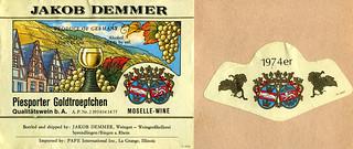 1974 - Piesporter Goldtröpfchen (Mosel)