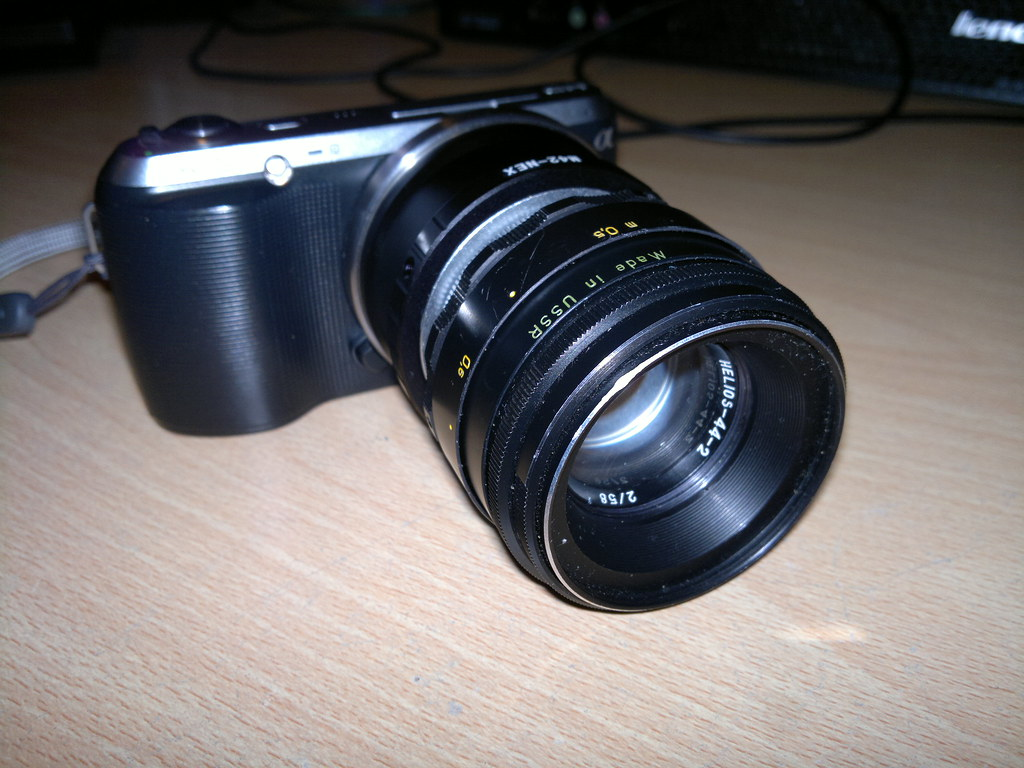 Sony NEX-C3 with Helios 44-2 | Not particularly great phone … | Flickr
