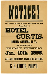 New Year's Party at Hotel Curtis Postponed Until Jan. 10, 1896