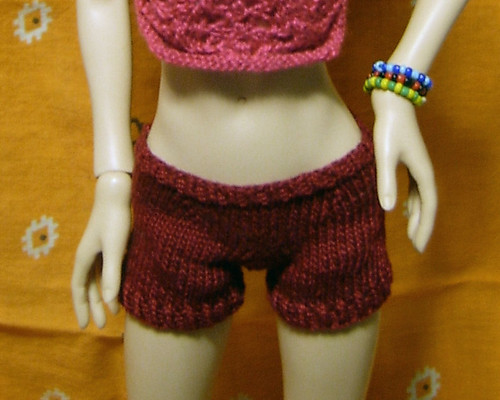 Burgundy Shorts - Front | by tephralynn