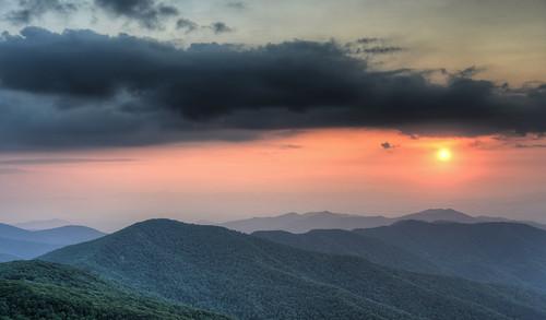 sunset nc asheville hdr blueridgeparkway