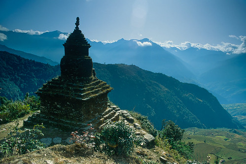 nepal pass velvia chorten easternregion chaurikharka