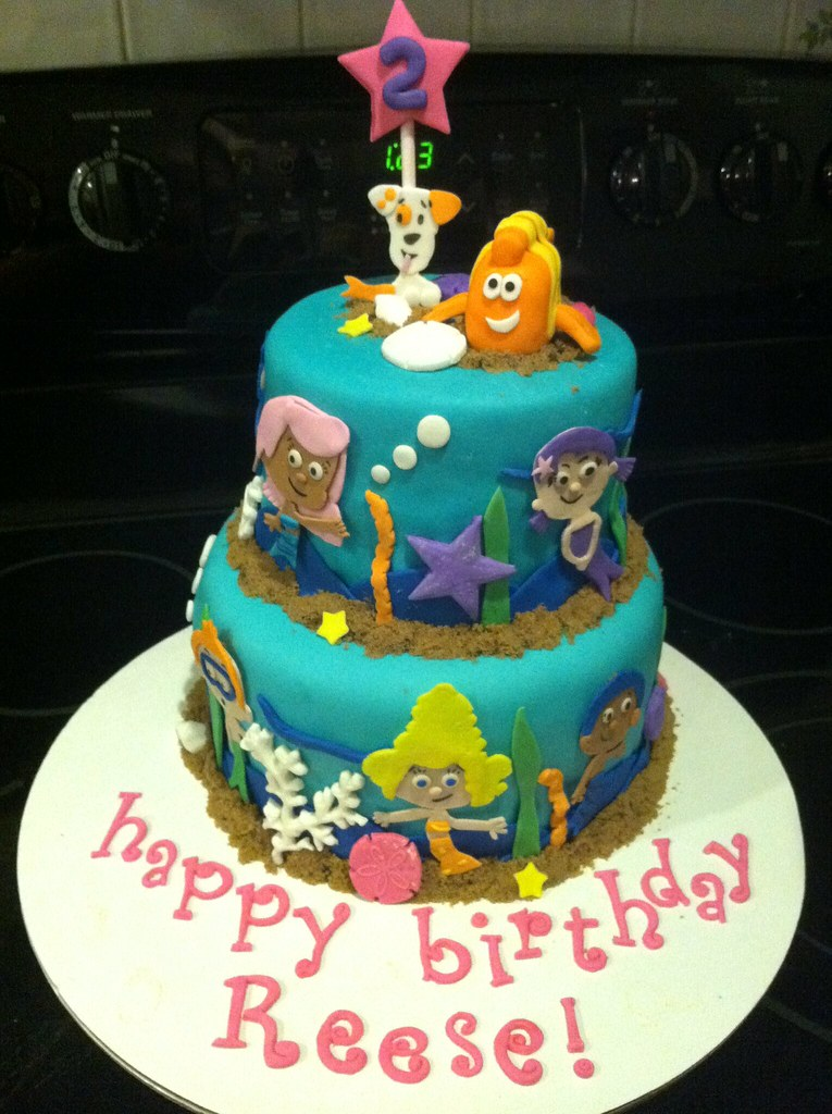 Incredible Bubble Guppies Birthday Cake Kyle Emmas Mom Flickr Funny Birthday Cards Online Alyptdamsfinfo