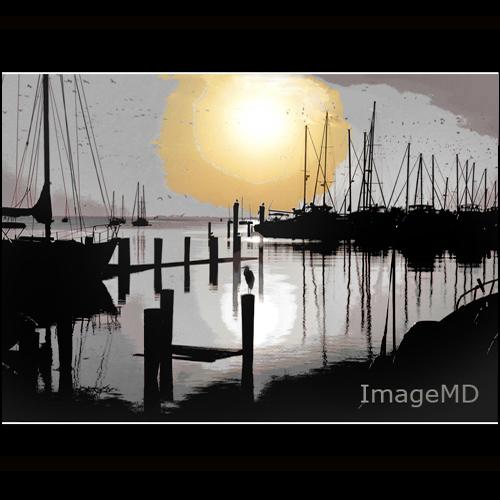 silhouette marina sunrise florida miami hdr posterize coconutgrove oligochrome oligotone
