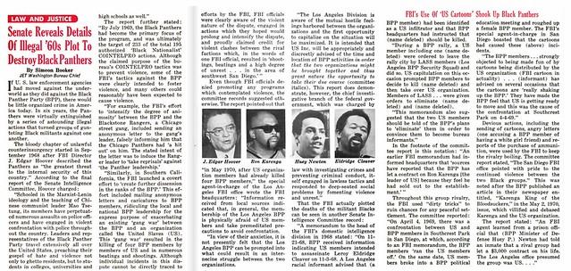 US Senate Reveals Details of FBI Successful 1960s Plot to Destroy Black Panthers - Jet Magazine, June 24, 1970