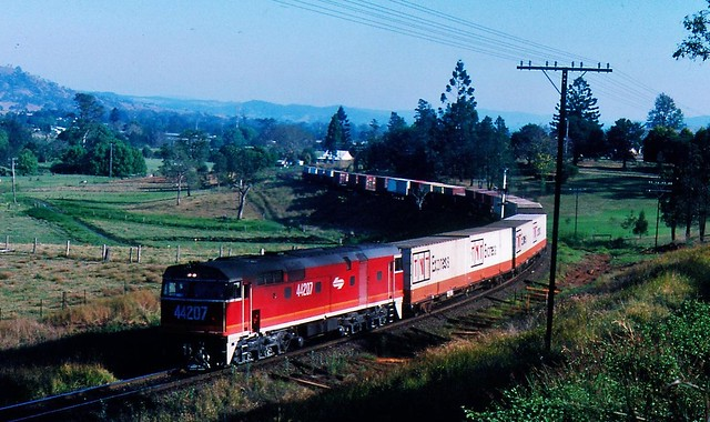 Brisbane  to Sydney freight at Kyogle New South Wales