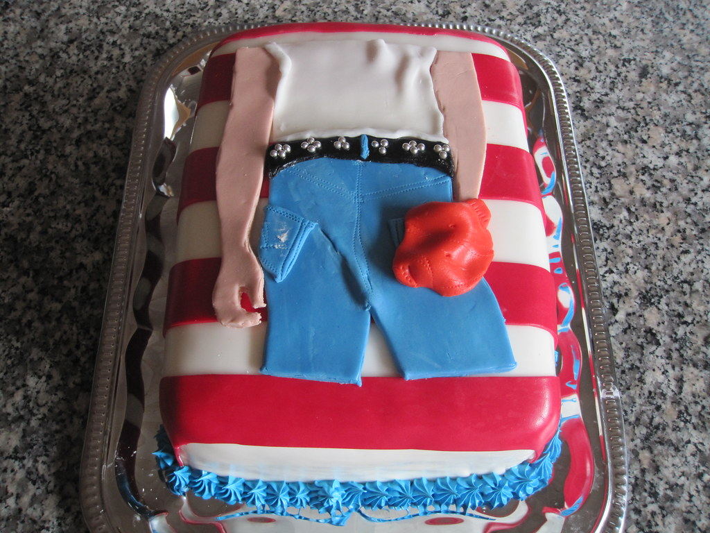 Incredible Bruce Springsteen Born In The Usa Cake Rinapigen1808 Flickr Funny Birthday Cards Online Bapapcheapnameinfo