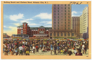 Bathing beach and Chelsea Hotel, Atlantic City, N.J. | by Boston Public Library