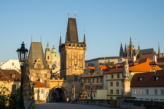 Morning on Charles Bridge | by romanboed