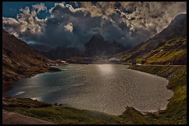 Nessun dorma , I am sad for Italy .The Col du Grand Saint Bernard , Grate Saint Bernard Pass. No. 2313.