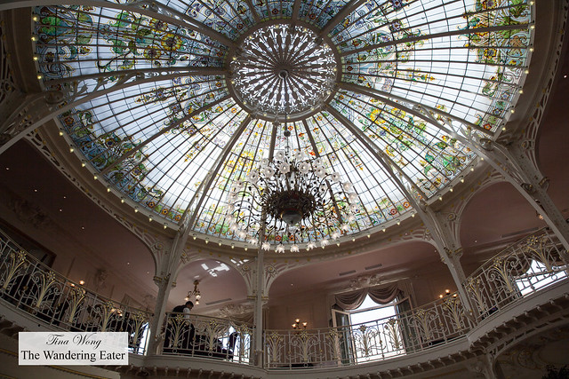 Looking up at the Winter Garden dome by Gustave Eiffel