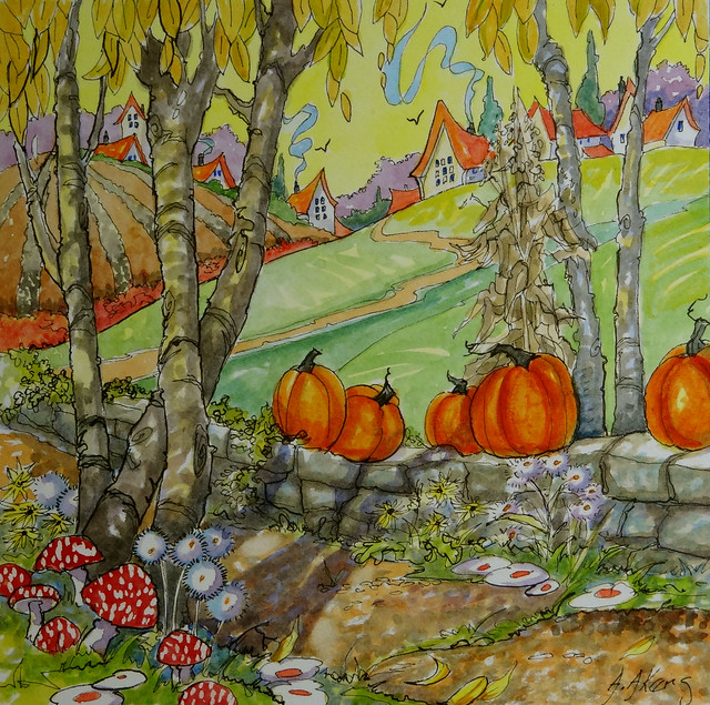 A Walk Through Autumn Storybook Cottage Series by Alida Akers
